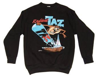 "Vintage 1995 Looney Tunes ""Radical Taz"" Crewneck (Large)"