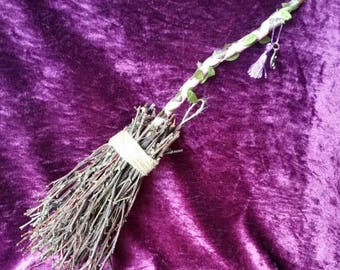 Protection Broomstick with Charm