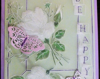 Good Luck Be Happy card