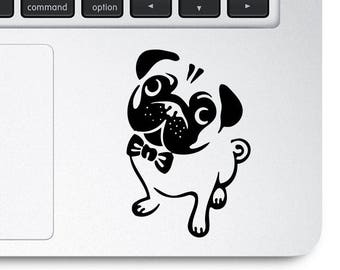 Pug Decal, Pug Sticker, Cute Pug Decals, Puppy Decal, Puppy Stickers, Custom Decals, Laptop Decals, Dog Sticker, Dog Decal, Dog Stickers,