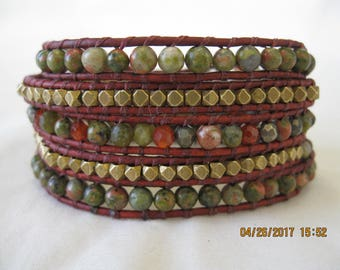 Five-wrap bracelet