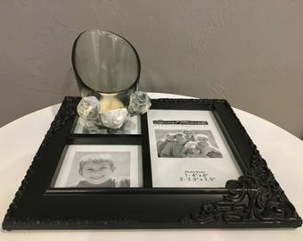 Black and White Candle Holder and Picture Frame.