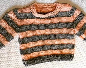 Danny Striped wool baby jumper