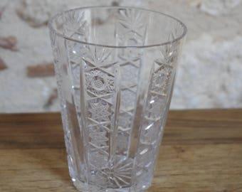 15 cm VINTAGE 1950s cut Crystal vase