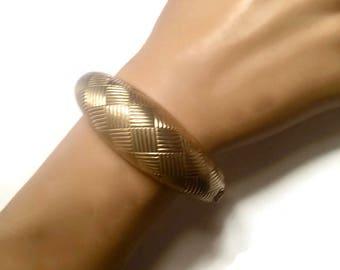 Vintage Coro Pegasus Gold Tone Clamper Bracelet