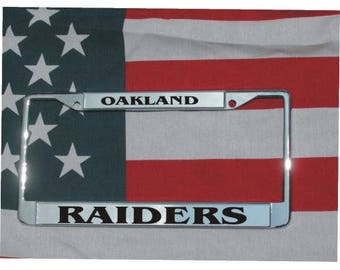 OAKLAND RAIDERS Football Chrome Laser Engraved License Plate Frame FREE Shipping