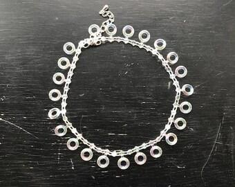 Translucent Geometric Choker Necklace
