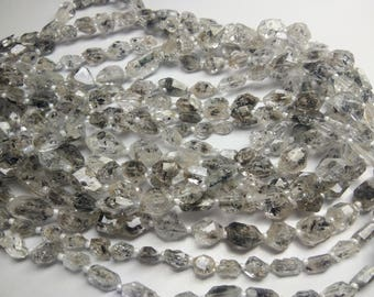 "Natural Harkimer Diamond quartz 5x8 mm nuggets beads,13"" long strands"