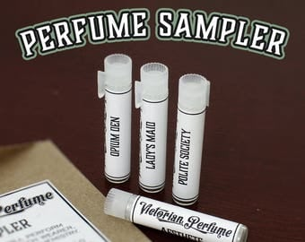 PERFUME SAMPLER, Choose 4, Each vial contains 1ml of Fragrance, Victorian Perfume