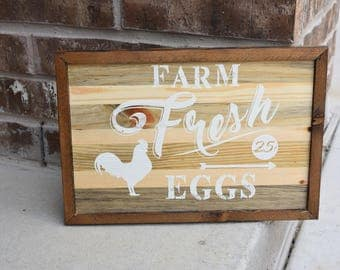 Hand painted sign - farm fresh eggs