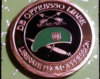 Army Special Forces De Oppress Liber Colorized Challenge Art Coin