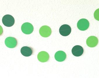 Green Circle Garland - Green Wedding Decor - Garden Party Decorations - Easter Decorations