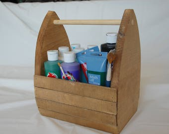 Wooden Basket/Beer Holder