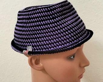 Hat Trilby Gr. 50-52cm crochet
