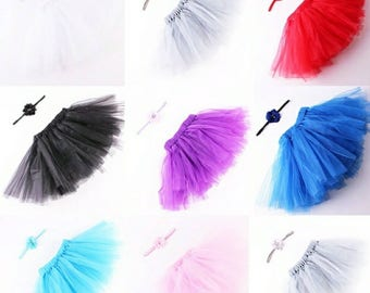 Baby Girls photography Tutu set with matching head band