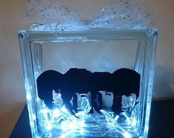 The Beatles Glass Block Light