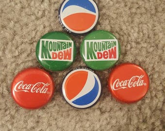 6 Bottle Cap Magnets