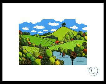Colmer's Hill, Mounted Giclee Print
