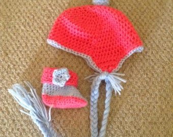 Crochet Baby Booty and Hat Set