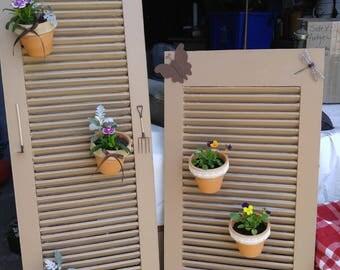 Repurposed Shutter's/ Garden