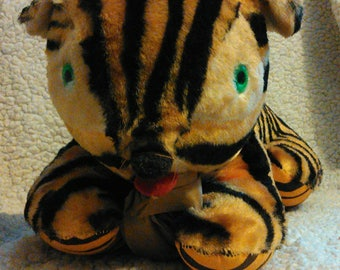 """On Hold for AG Please Do Not Purchase! Vintage 1950s 20"""" Plush Tiger Fable Toy Co"""