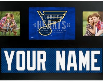 St. Louis Blues NHL Jersey Custom Picture Frame