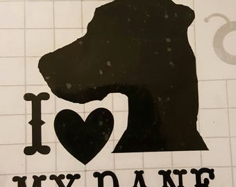 I Love My Dane Vinyl