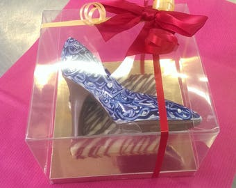 hand painted Artisan chocolate shoes
