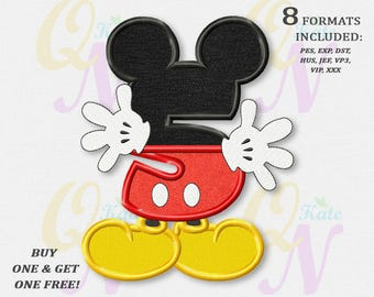 BOGO FREE! Mickey Mouse Fifth birthday Applique Embroidery Designs, Mickey birthday Machine Embroidery Designs, embroidery design baby, #080