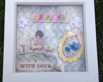 Belle and Boo box Frame personalised with name