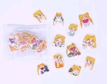 Confezione stickers Sailor Moon!
