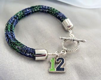 Seahawks 12 Viking Knit Bracelet