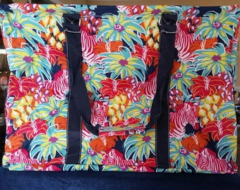 Large Jungle Frenzy Tote Bag