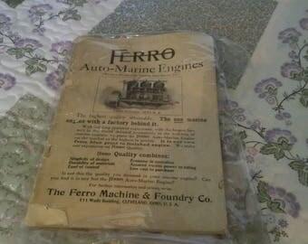 Ferro Auto-Marine Engines Manual, dated January 1907