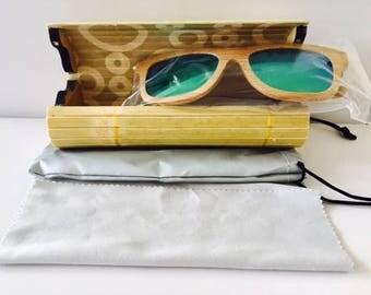 Bamboo Sunglasses Wooden, Retro Vintage Wood Lens,Handmade Wood Frame