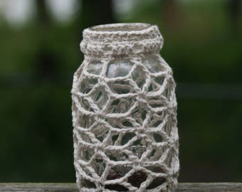 Luminaries, candle holders, unique, handmade, folk art, crochet