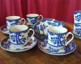 Japanese MARUKU fine porcelain coffee set