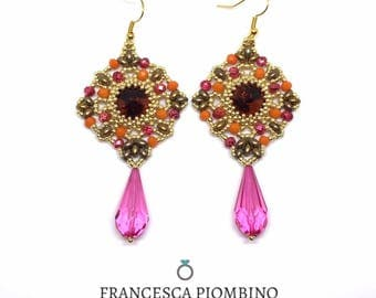 cod.040E - Earrings Bollywood - Handamde earrings.