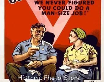 """World War ll War Poster """"Good Work Sister"""""""