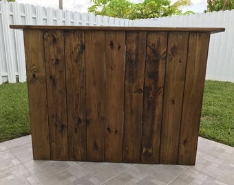 Outdoor Rustic Bar