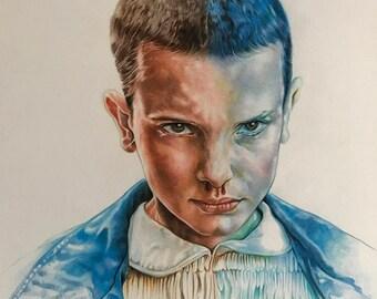 Eleven Color Pencil ORIGINAL ART