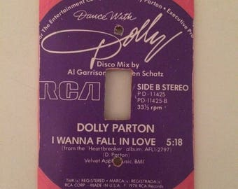Dolly Parton Vinyl Record Switchplate Cover