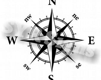 Nautical Compass Vinyl Car Decal
