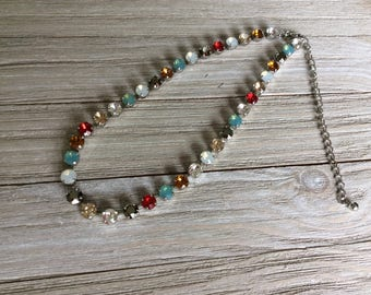 Swarovski Crystal Necklace, 'Simply Stunning'