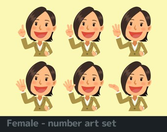 Female - number art set