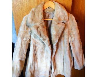 Vintage 60s faux fur coat