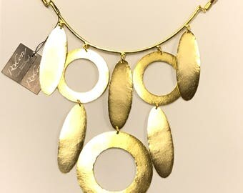 Brass necklace bathed in gold 80000500
