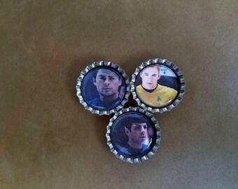 Star Trek Bottle Cap Magnets