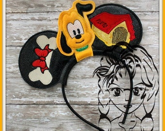 DOG Funny Inspired Character (4 Piece) Mr Miss Mouse Ears Headband ~ In the Hoop ~ Downloadable DiGiTaL Machine Emb Design by Carrie