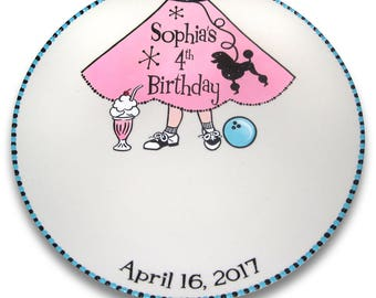 Sock Hop Retro Birthday Signature Platter